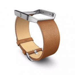 Fitbit Blaze Original Leather Accessory Band (Camel Large) 3f1ccbb731